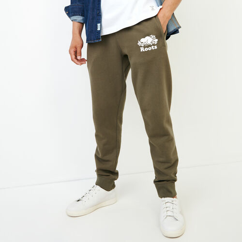 Roots-Men Our Favourite New Arrivals-Original Park Slim Sweatpant-Fatigue-A