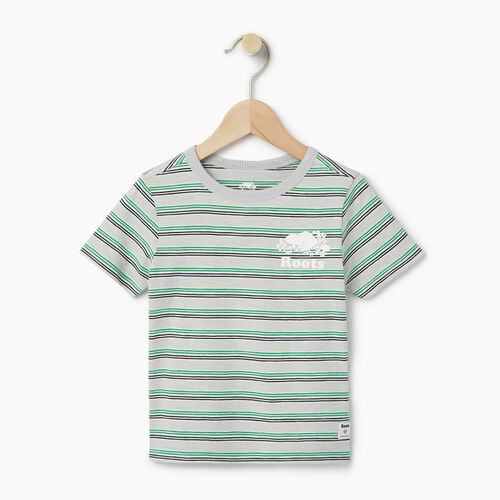 Roots-Clearance Kids-Toddler Cooper Stripe T-shirt-Vapour Grey-A