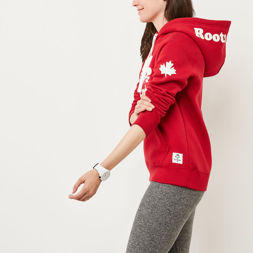 Roots-Women Canada Collection By Roots™-Womens Cooper Canada Kanga Hoody-Sage Red-B