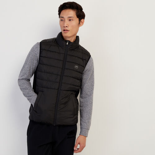 Roots-Men Jackets-Journey Hybrid Vest-Black-A