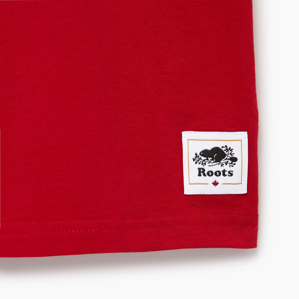 Roots-Kids Our Favourite New Arrivals-Boys Canada T-shirt-Sage Red-C