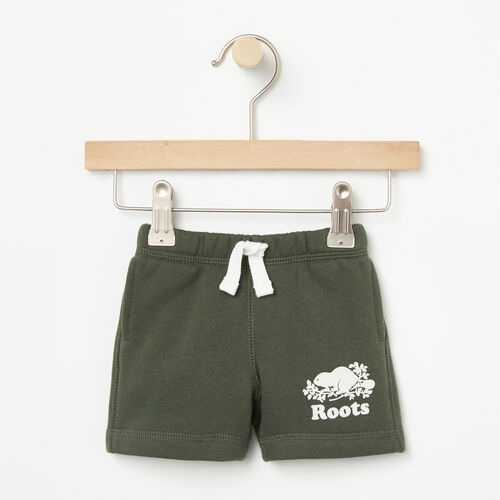 Roots-Kids Bottoms-Baby Original Athletic Short-Climbing Ivy-A