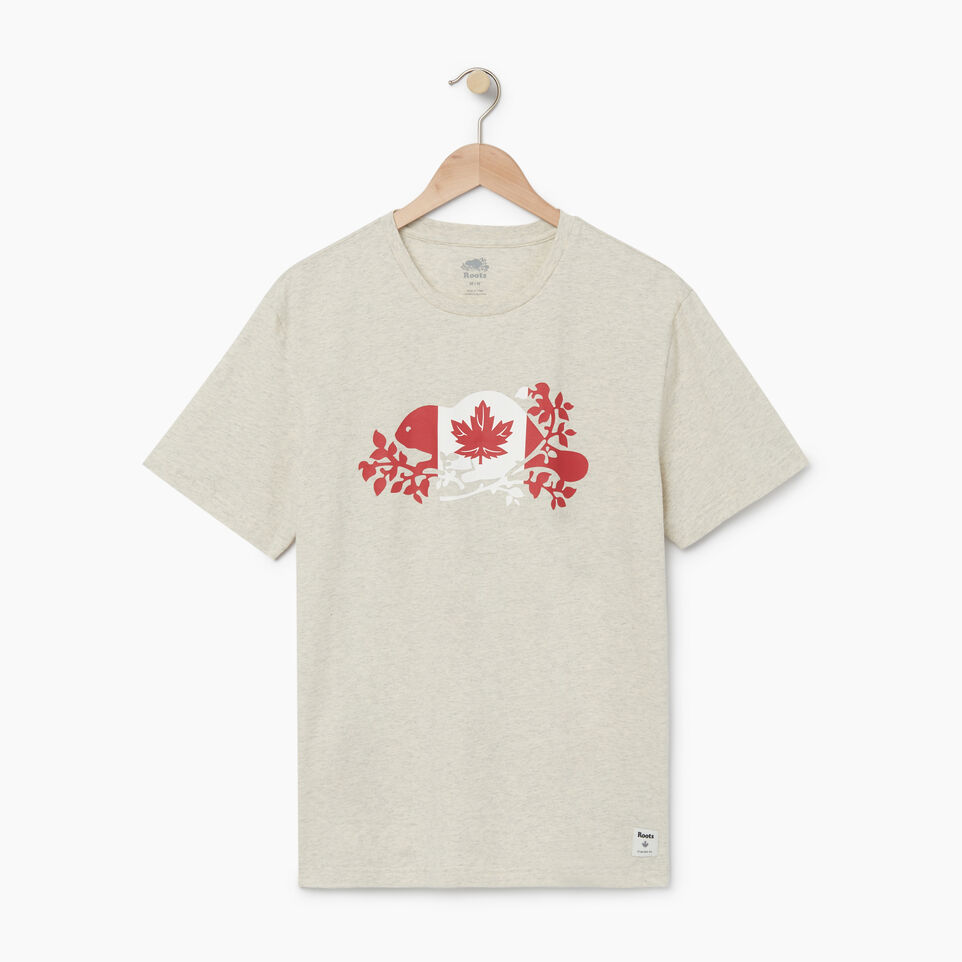 Roots-undefined-Mens Beaver Flag T-shirt-undefined-A