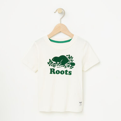Roots-Kids T-shirts-Toddler Cooper Short Sleeve T-shirt-Pristine White-A