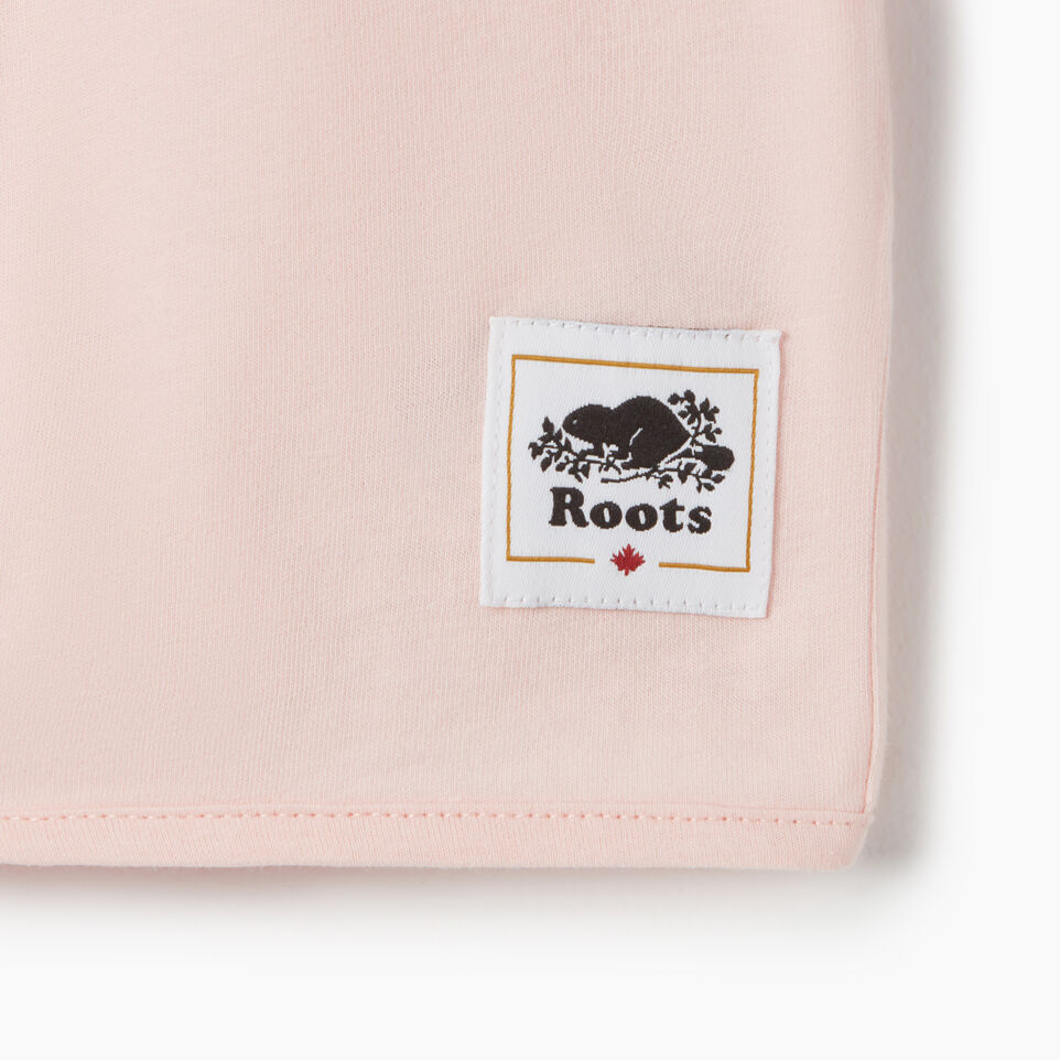 Roots-Kids Canada Collection-Girls Canada Tie T-shirt-English Rose-D