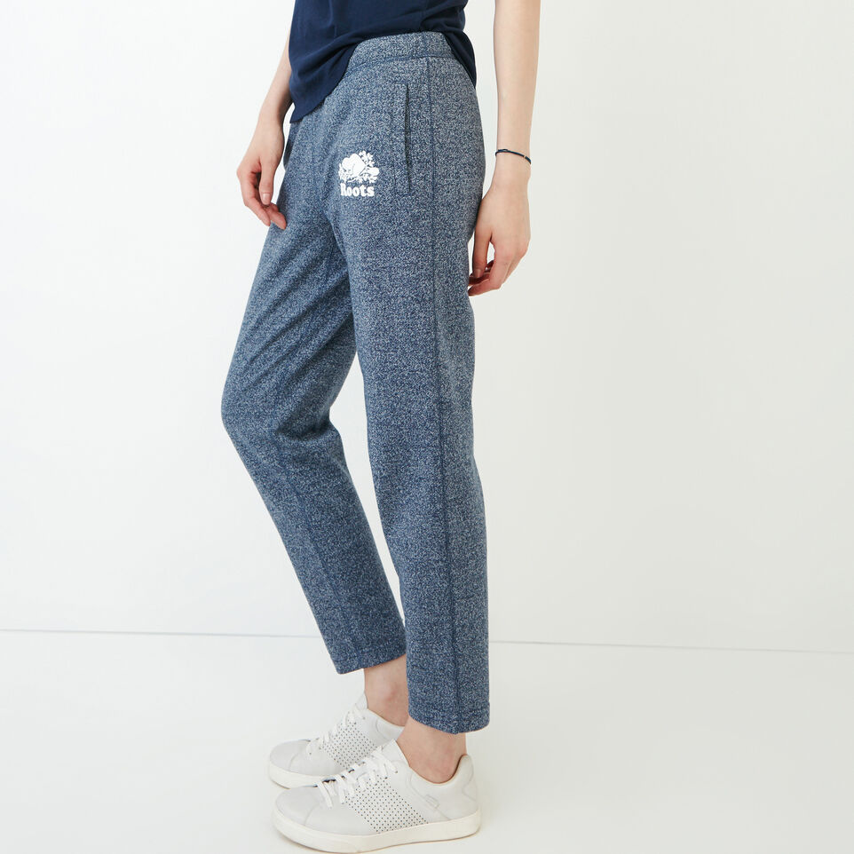 Roots-Women Clothing-Roots Ankle Sweatpant-Navy Blazer Pepper-D