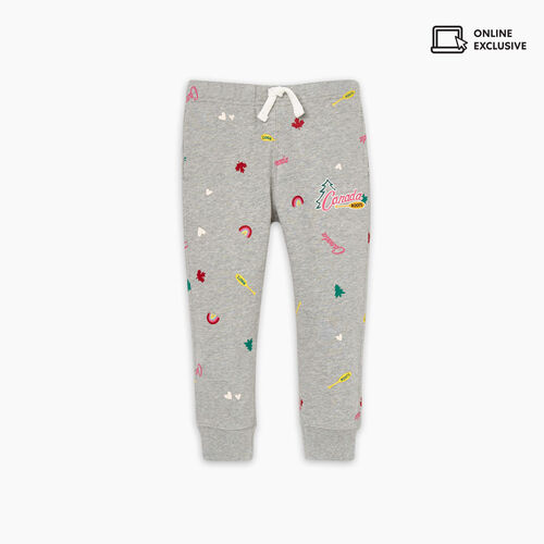 Roots-Sweats Toddler Girls-Toddler Outdoors Slim Sweatpant-Grey Mix-A
