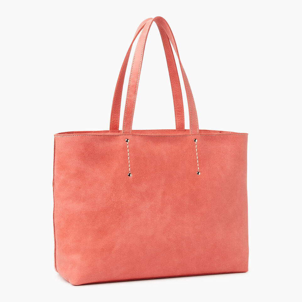Roots-Leather Categories-Westmount Tote Tribe-Coral-C