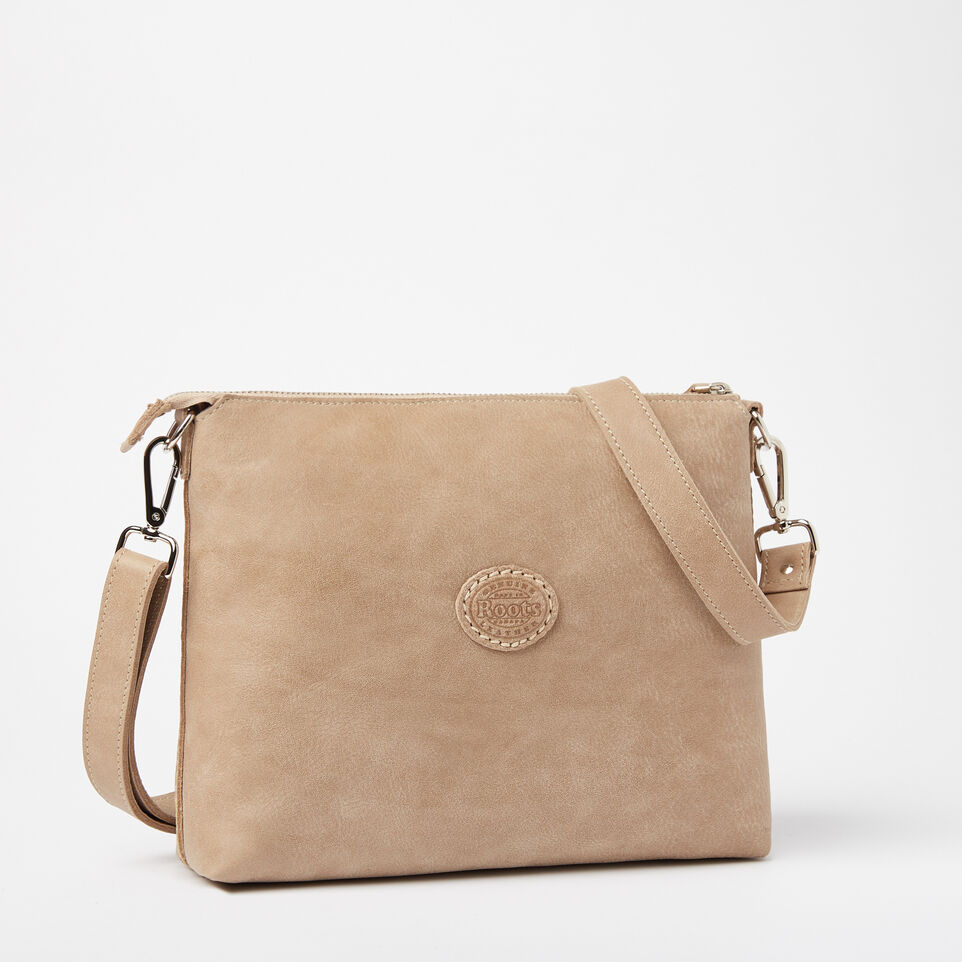 Roots-Leather Handbags-The Villager Tribe-Sand-C