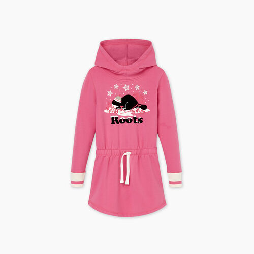 Roots-Kids New Arrivals-Girls Buddy Cozy Dress-Carmine Rose-A