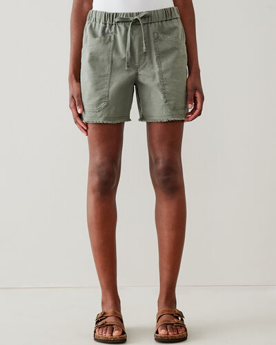 Roots-Shorts Women-Margaree Pocket Short 5.5 In-Agave Green-A