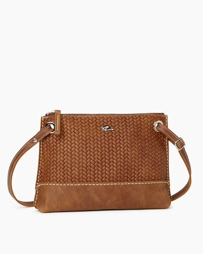 Roots-Leather Bestsellers-Edie Bag Woven-Natural-A