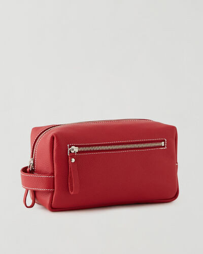 Roots-Leather New Arrivals-Large Utility Pouch Cervino-Lipstick Red-A