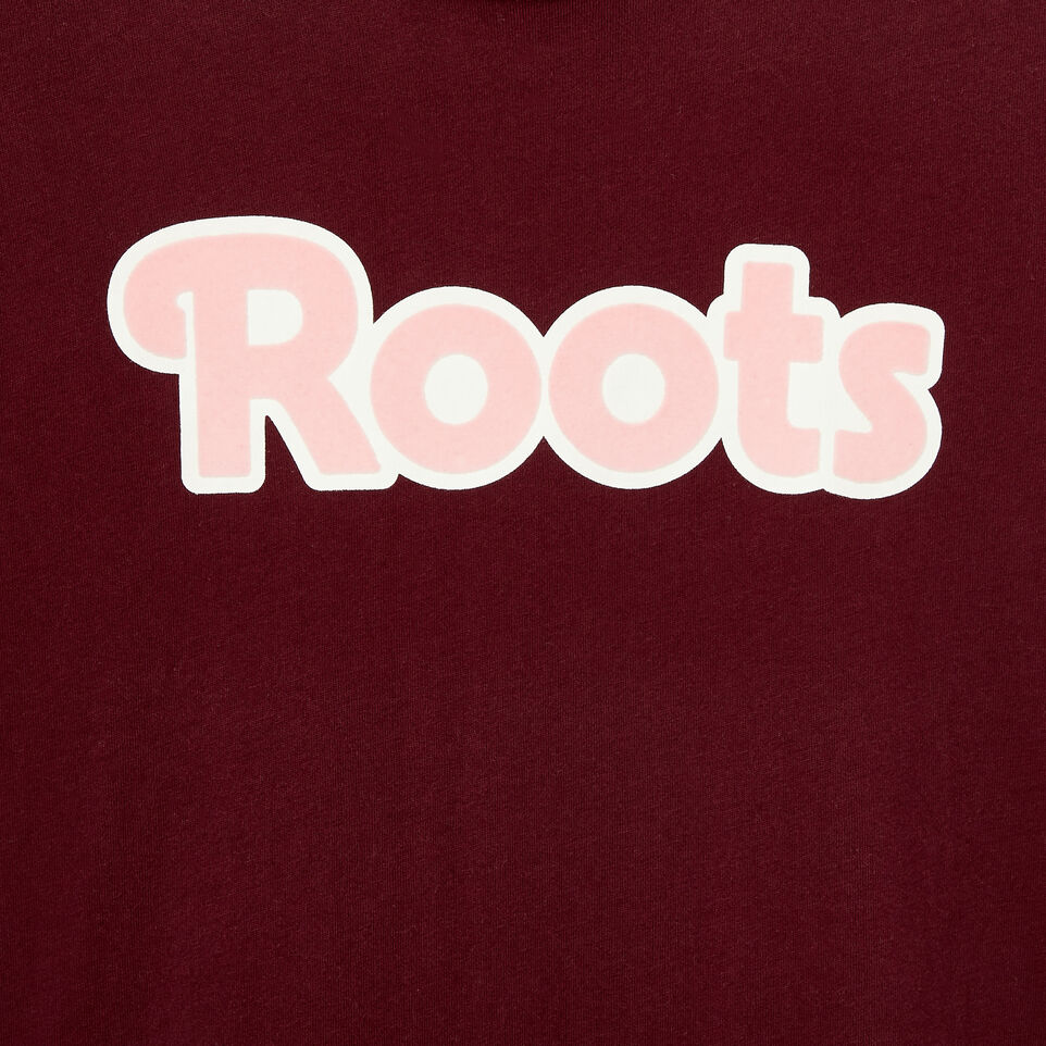 Roots-Clearance Kids-Girls Roots T-shirt-Northern Red-D