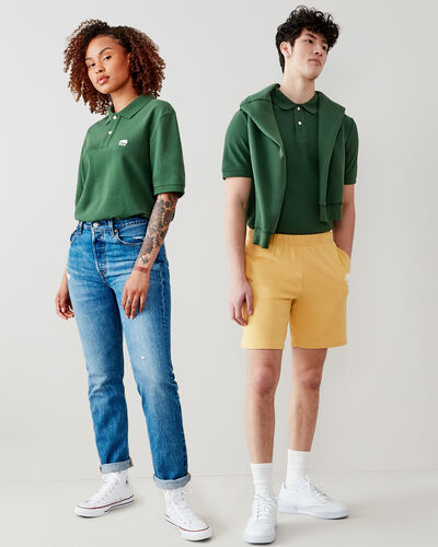 Roots-Men Shirts & Polos-Heritage Pique Polo-Camp Green-A