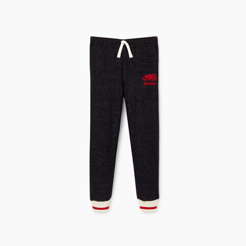 Roots-Clearance Kids-Boys Roots Cabin Sweatpant-Black Pepper-A