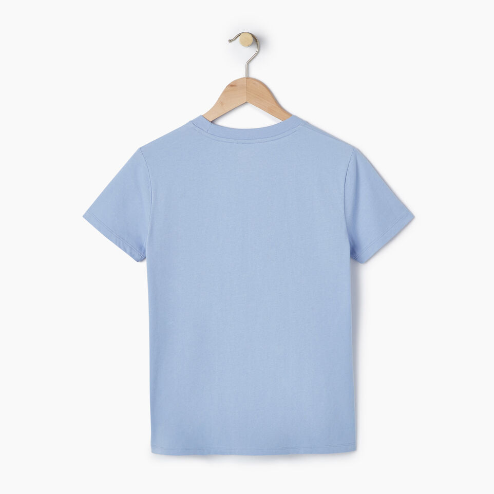 Roots-New For March Daily Offer-Womens Burnaby T-shirt-Bonita Blue-B