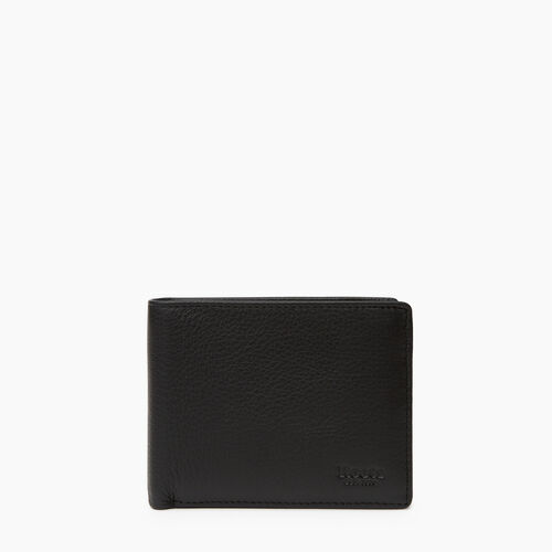 Roots-Leather  Handcrafted By Us Categories-Mens Slimfold Wallet With Side Flap Prince-Black-A