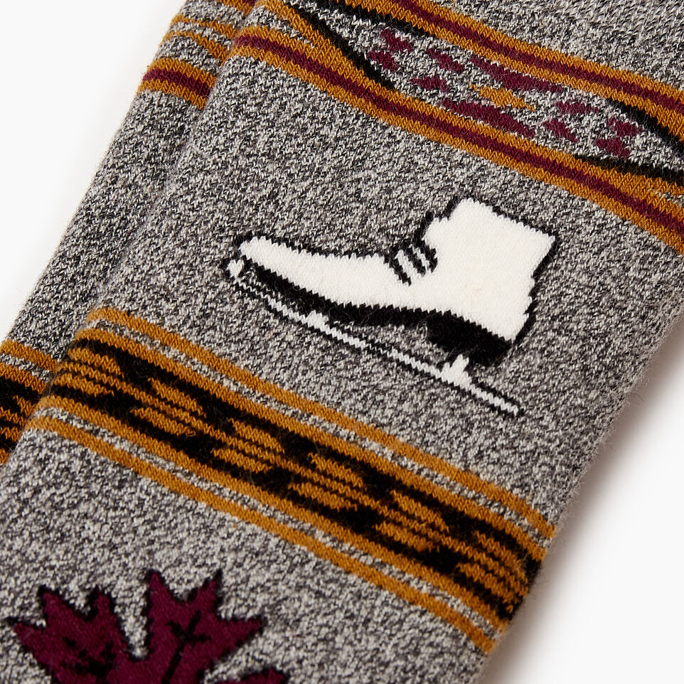 Roots-Women Our Favourite New Arrivals-Winter Fun Boot Sock-Purple-B
