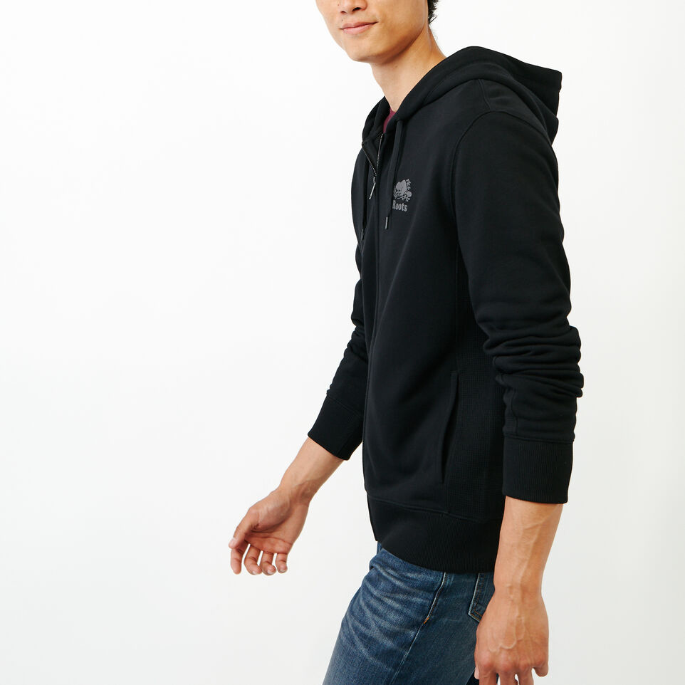Roots-Men New Arrivals-Roots Breathe Zip Hoody-Black-C