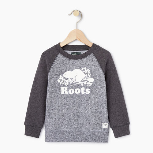 Roots-Kids Toddler Boys-Toddler Original Crewneck Sweatshirt-Charcoal Mix-A