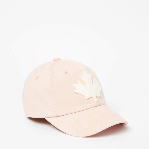 Roots-Clearance Kids-Kids Canada Leaf Baseball Cap-Pale Blush-A