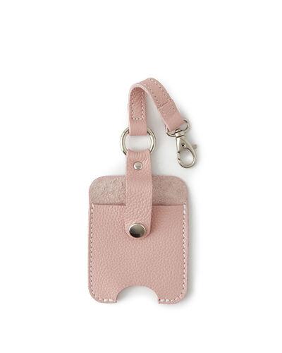 Roots-Men Leather Accessories-Hand Sanitizer Holder 2.0-Pink Pearl-A