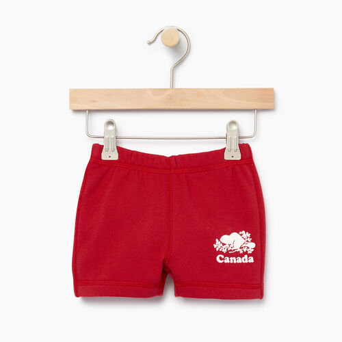 Roots-Kids Categories-Baby Canada Short-Sage Red-A
