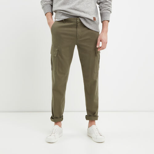 Roots-Men Pants-Utility Cargo Pant-Dusty Olive-A