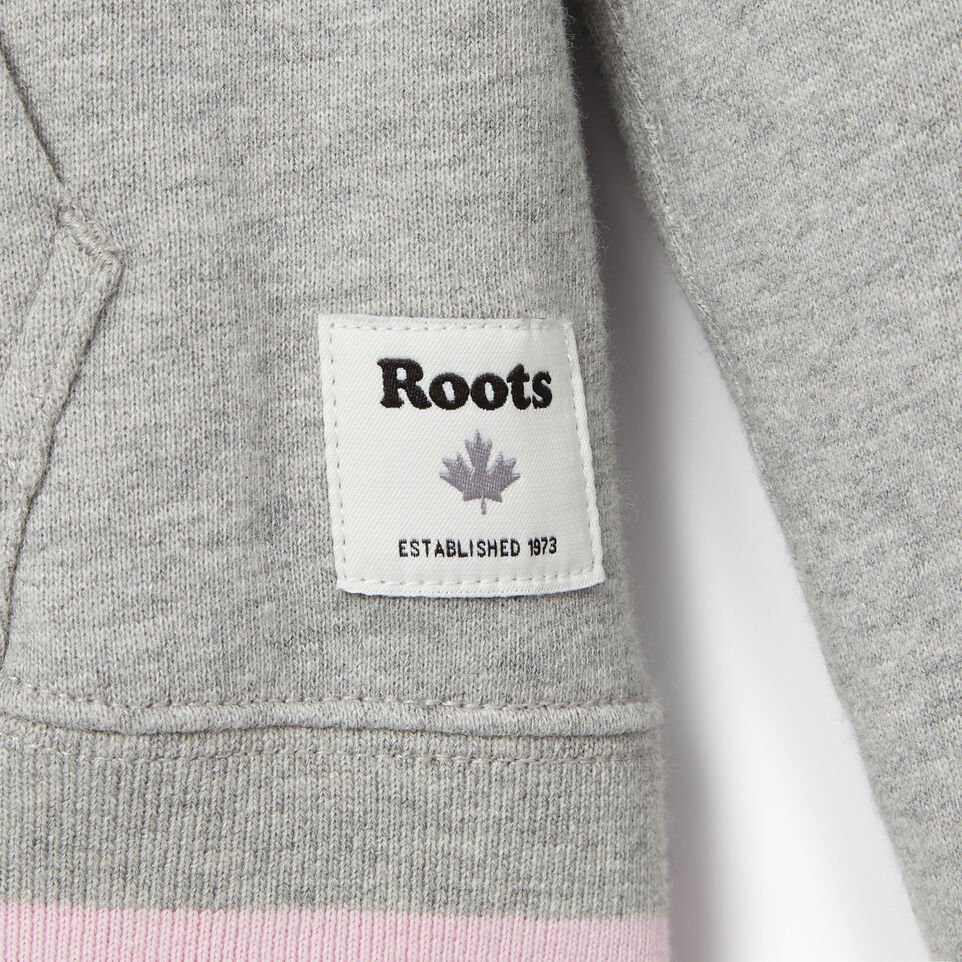 Roots-Kids Categories-Girls Roots Varsity Kanga Hoody-Grey Mix-C
