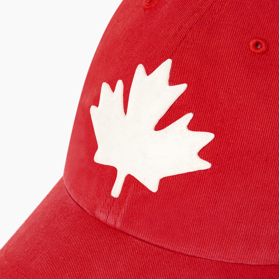 Roots-Men Our Favourite New Arrivals-Canada Leaf Baseball Cap-Red-D
