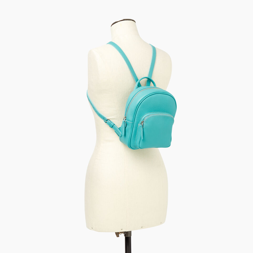 Roots-Cuir Sacs Style Urbain-City Chelsea Pack Parisian-Turquoise-B