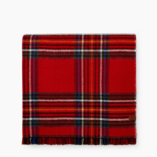 Roots-Winter Sale 30-40% Off - View All-Harvest Plaid Scarf-Cabin Red-A