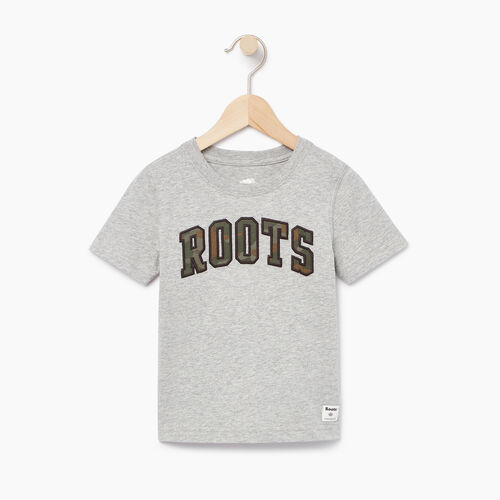 Roots-Kids Our Favourite New Arrivals-Boys Arch Roots T-shirt-Grey Mix-A
