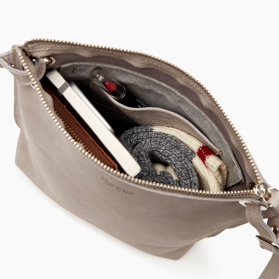 Roots-Leather  Handcrafted By Us Handbags-Festival Bag-Sterling Grey-D