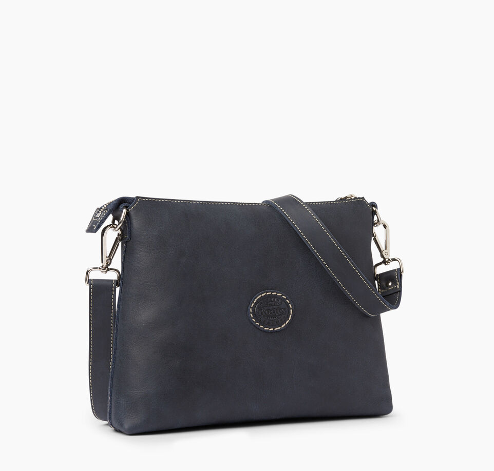 Roots-Clearance Leather-The Villager Tribe-Dark Navy-C