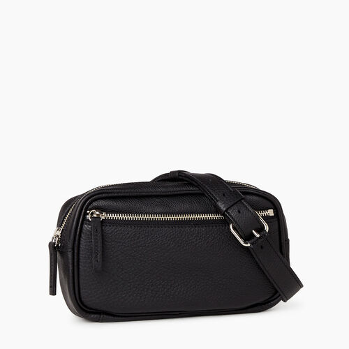 Roots-Leather  Handcrafted By Us Categories-Roots Belt Bag-Black-A