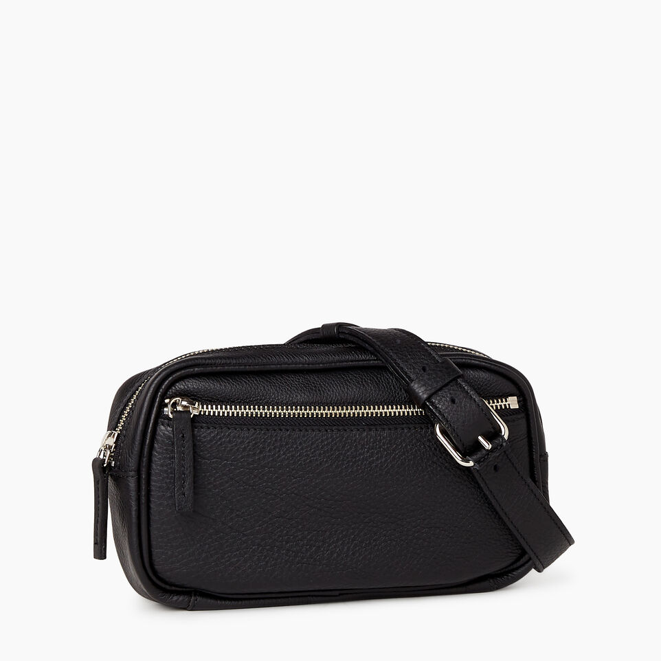 Roots-Leather  Handcrafted By Us Mini Leather Handbags-Roots Belt Bag-Black-A