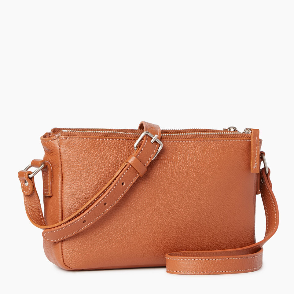 Roots-Leather Categories-Main Street Crossbody-Caramel-C