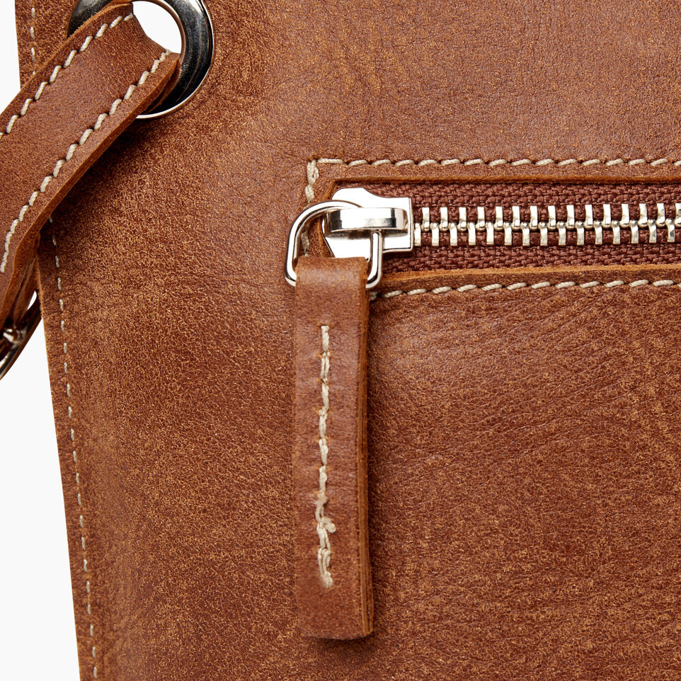 Roots-Women Leather-Festival Bag-Natural-F