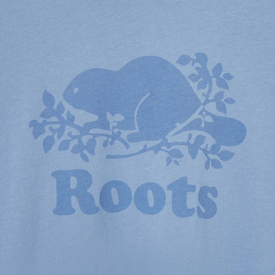 Roots-Women Our Favourite New Arrivals-Womens Cooper Beaver T-shirt-Stone Blue-D
