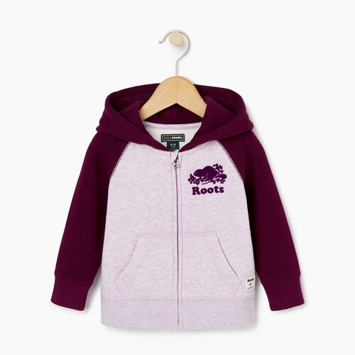 Roots-Sale Baby-Baby Original Full Zip Hoody-Lupine Mix-A