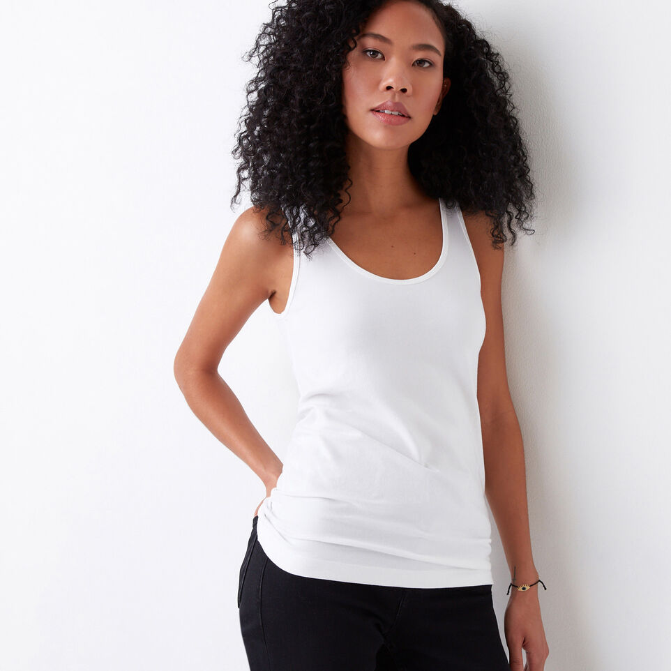 Roots-Women Our Favourite New Arrivals-Essential Tank-White-C