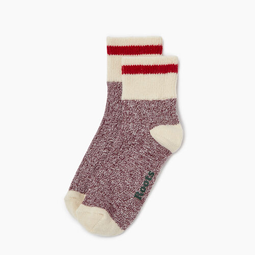 Roots-Women Our Favourite New Arrivals-Cotton Cabin Ankle Sock 2 pack-Grape Wine-A