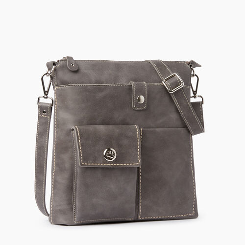 Roots-Leather  Handcrafted By Us Tribe Leather-Canadian Villager Tribe-Charcoal-A