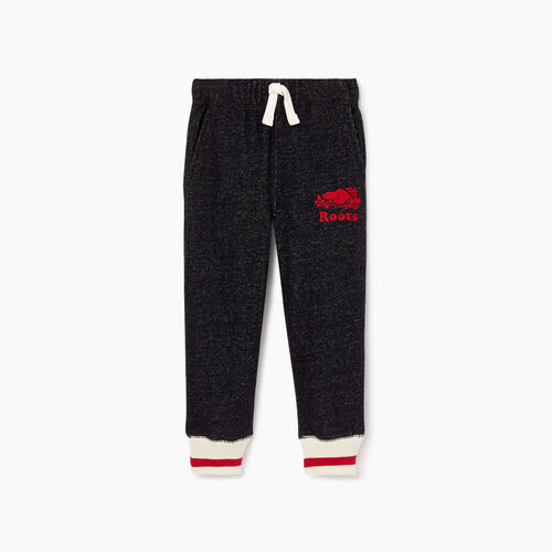 Roots-Kids Toddler Boys-Toddler Roots Cabin Sweatpant-Black Pepper-A