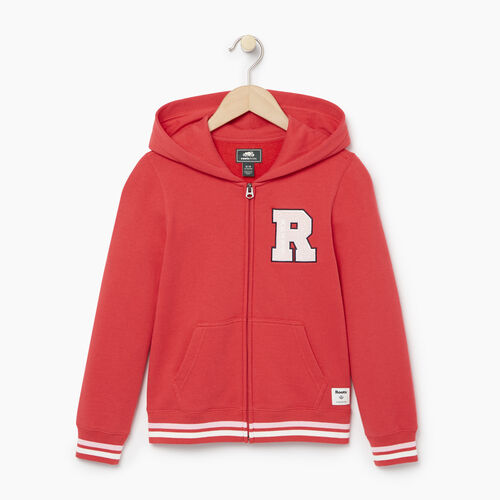 Roots-Kids Categories-Girls Alumni Full Zip Hoody-Chrysanthemum-A