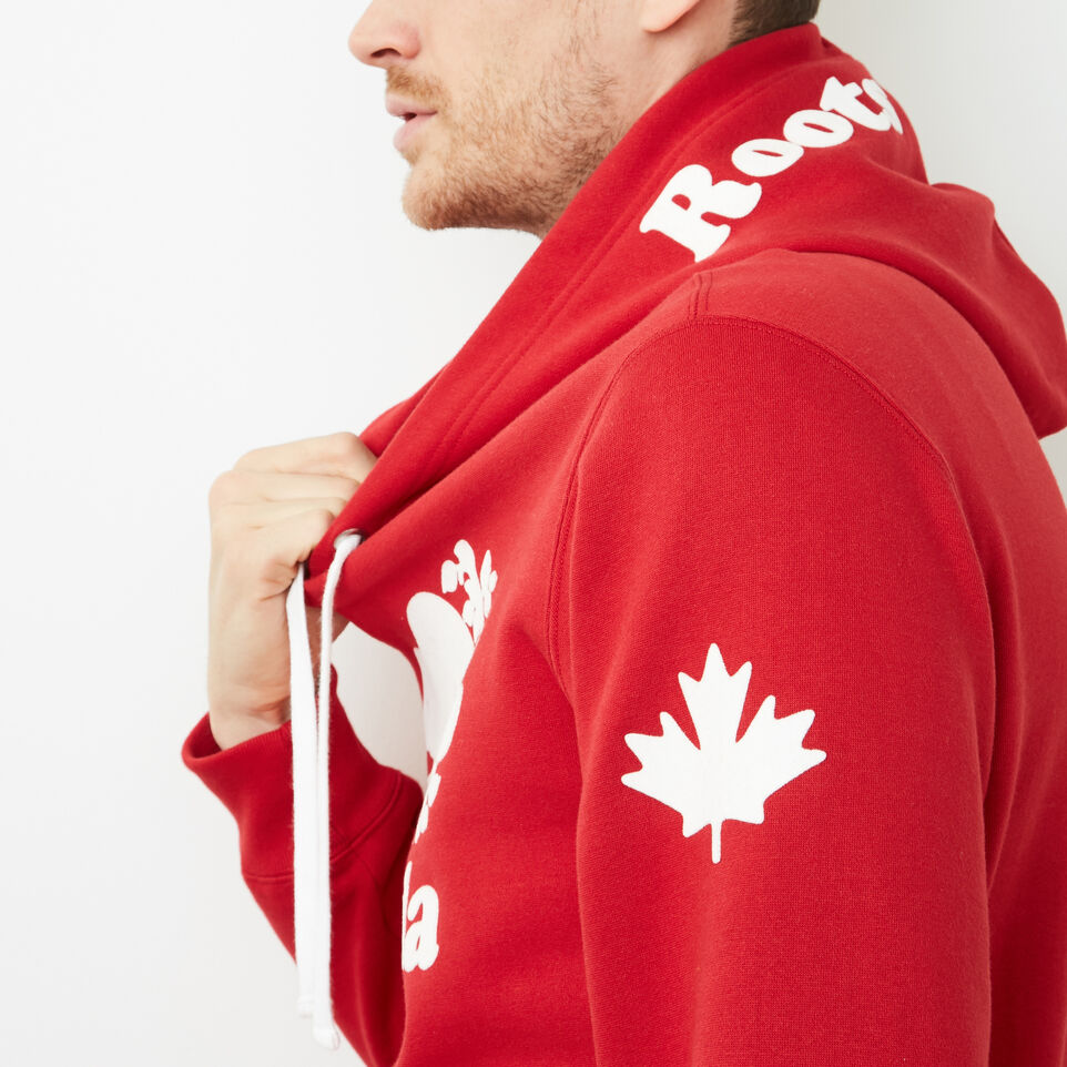 Roots-Men Canada Collection By Roots™-Mens Cooper Canada Hoody-Sage Red-D