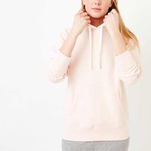 Roots-New For March Sweats-40s Kanga Hoody-Pink Cloud Mix-A
