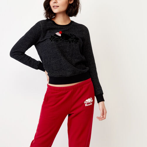 Roots-Women Our Favourite New Arrivals-Buddy Cozy Crew Sweatshirt-Black Pepper-A